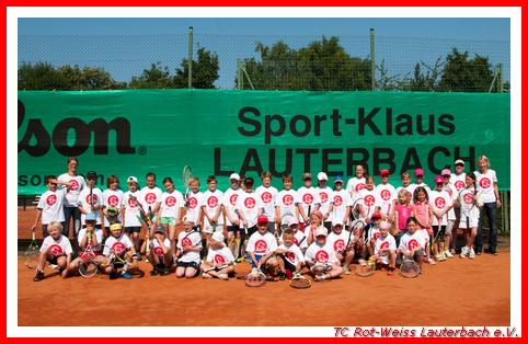 Alle Teilnehmer des 1. Lauterbacher Strolchturniers mit unseren Sportwarten
